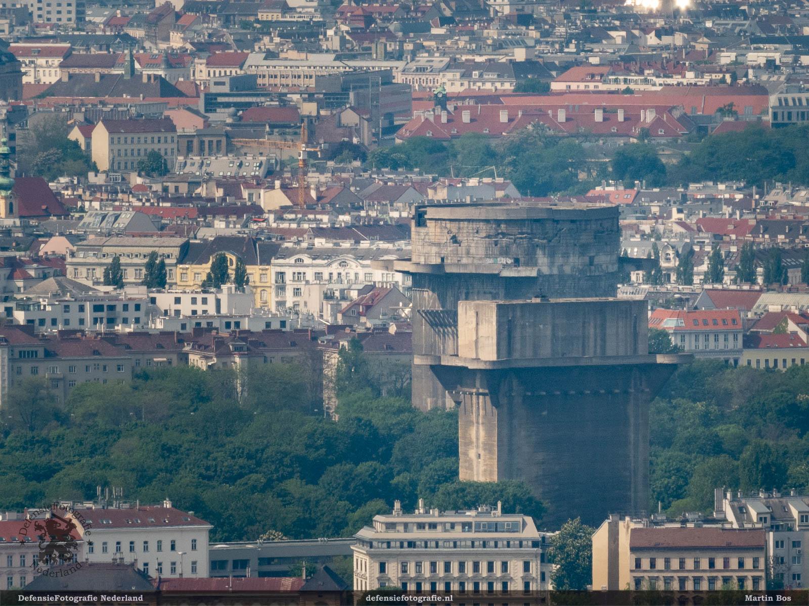 Flaktürme vanaf de Donautoren