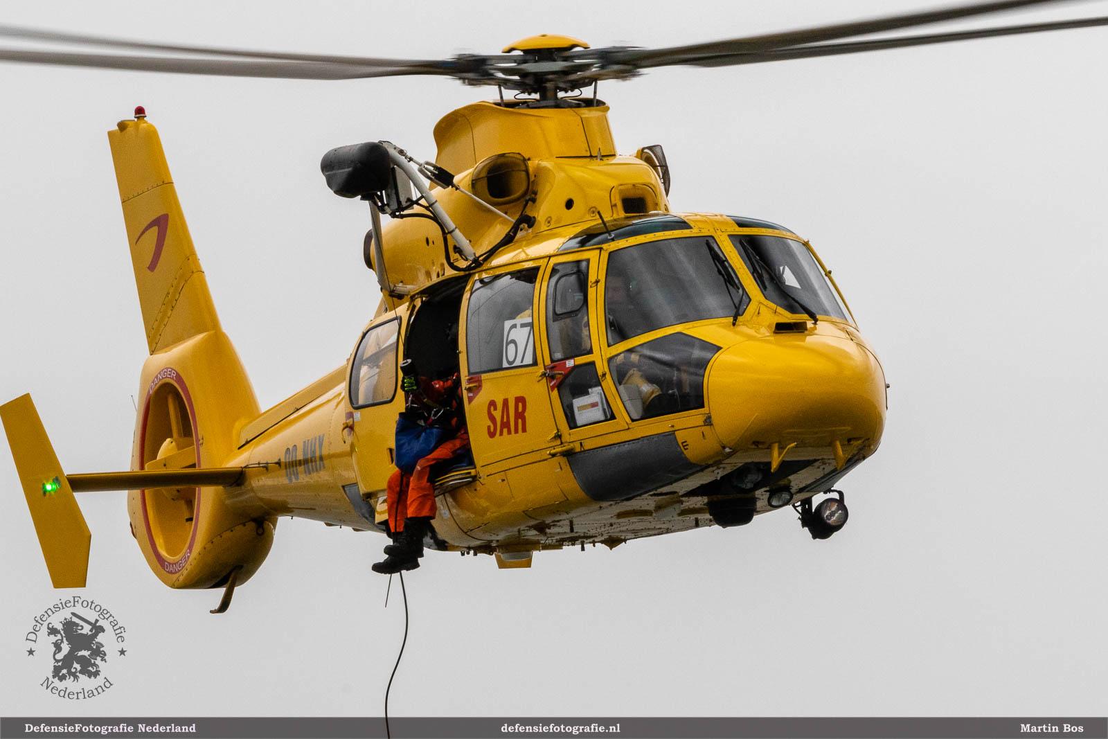 Belgische Dauphin helikopter van de Nederlandse Kustwacht