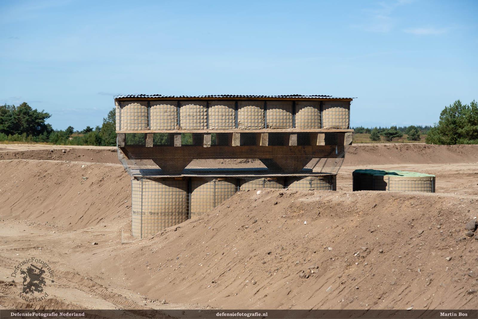 Observatiepost gebouwd met de Hesco