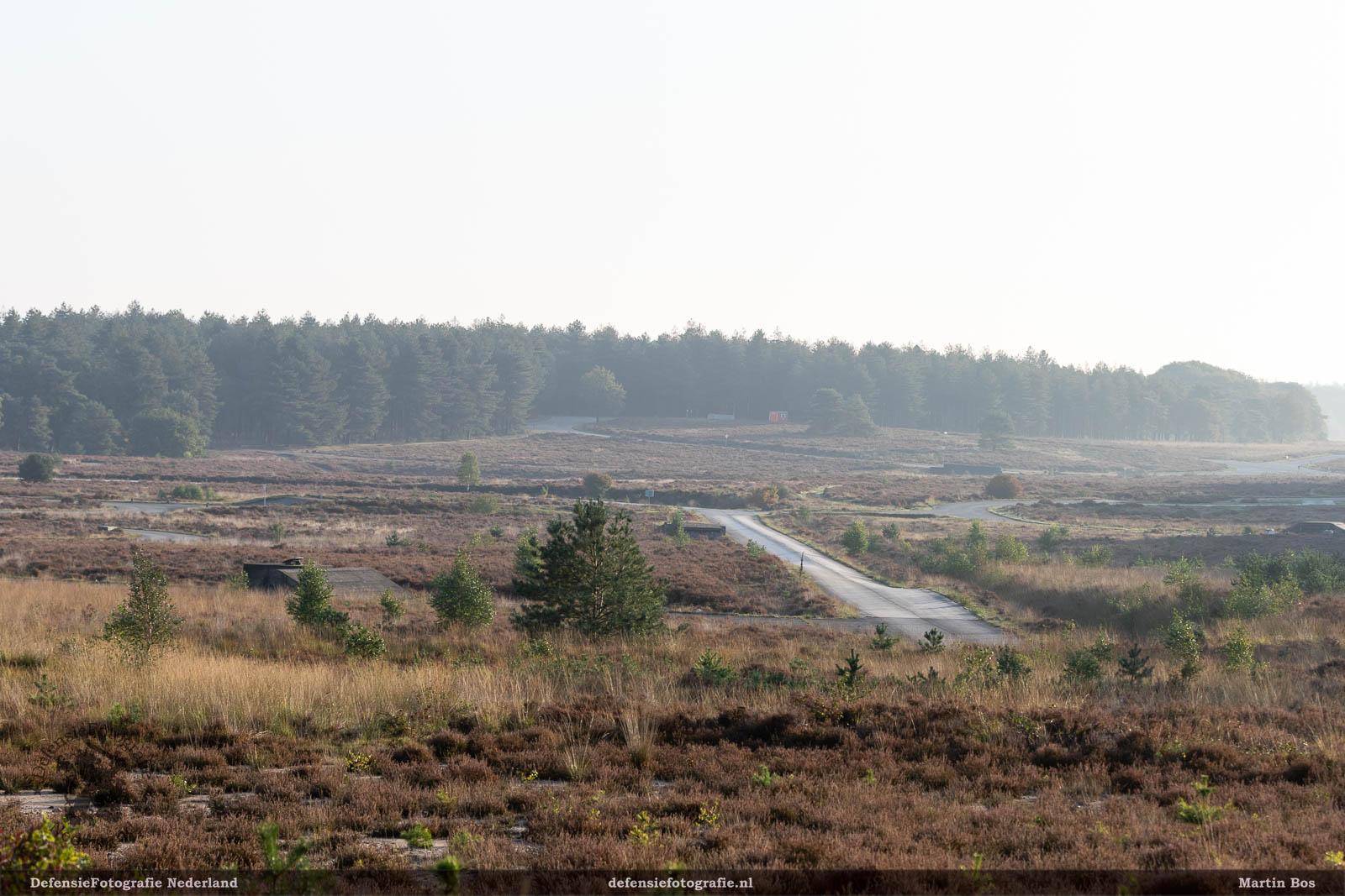 Uitzicht over de tank-proefbaan