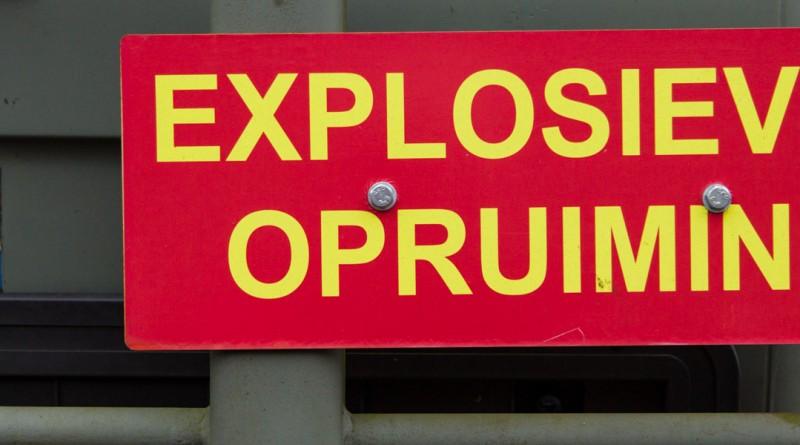 Bord: Explosieven Opruiming
