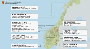 Kaart TRJE18 in Noorwegen