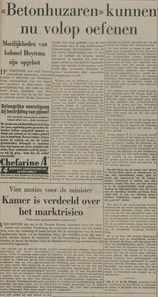 Krantenartikel Hoytema