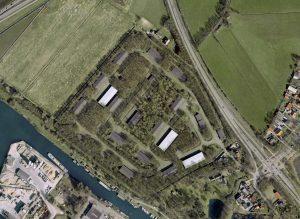 Luchtfoto complex Hoogland