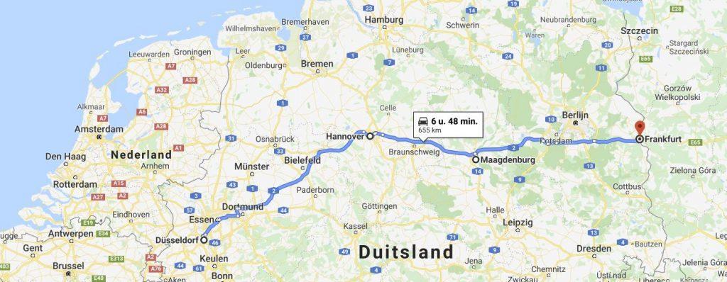 Route door Duitsland