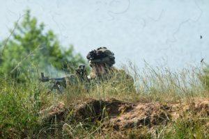 Poolse militair van de 12e Gemechaniseerde Brigade