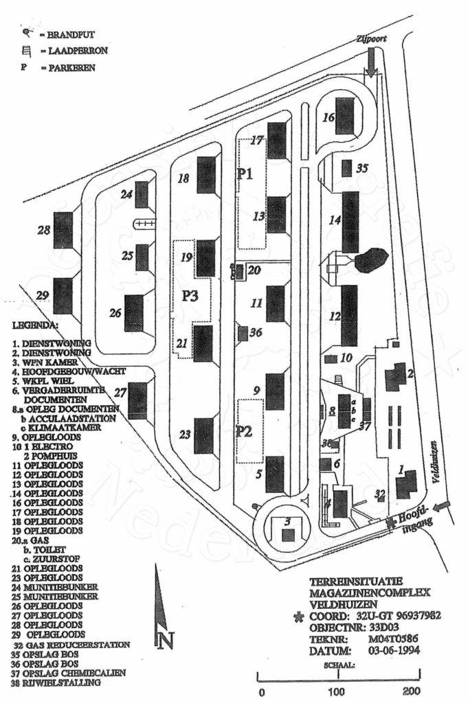 Terreinsituatie 1994