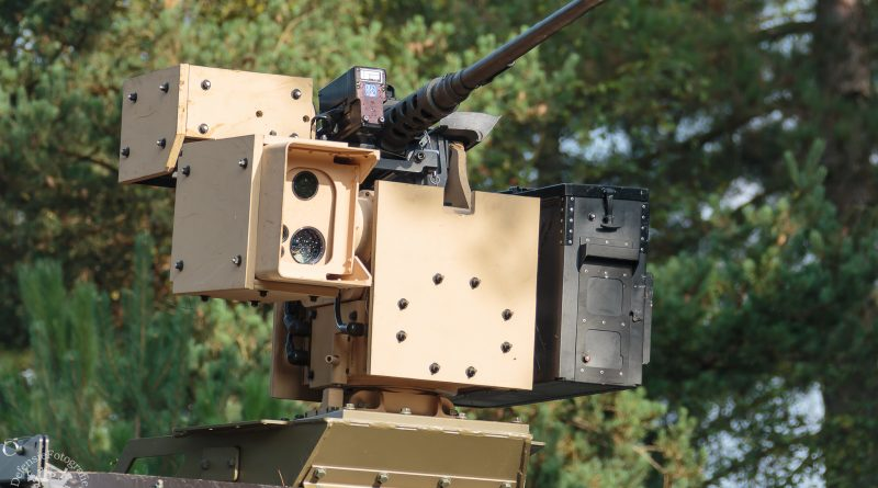 Remote controlled weapon station zoals op de Bushmasters staat