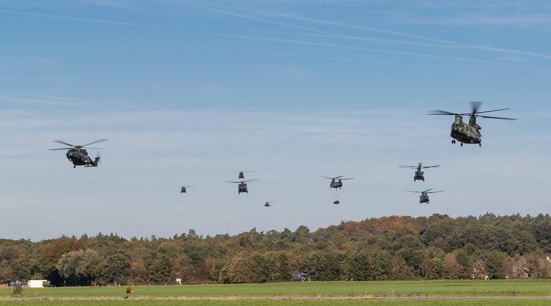 Aankomst helikopters